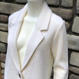 Single Button Creme Jacket EUC Rachel Zoe  sz M
